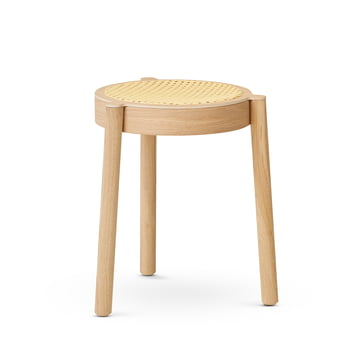 Northern - Pal Stacking Stool, cane mesh / oak