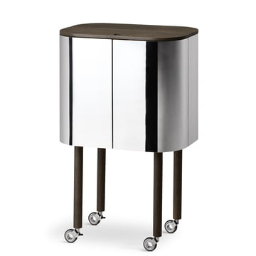 Northern - Loud Mobile Bar Cabinet, mirrored
