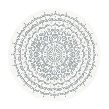Vitra - Tablecloth Ø 130 cm, lace / grey
