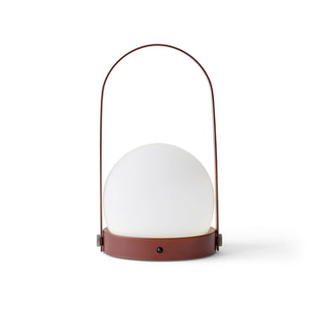 Carrie LED Lamp by Menu in Burned Red