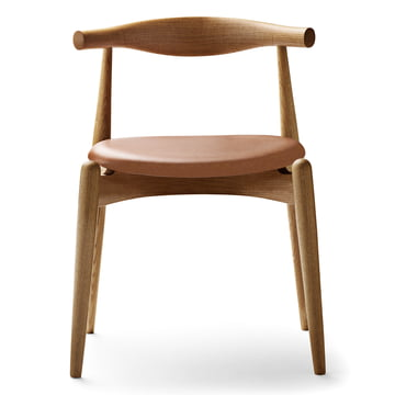 The Carl Hansen - CH20 Elbow Chair, oiled oak / leather (Sif 95)