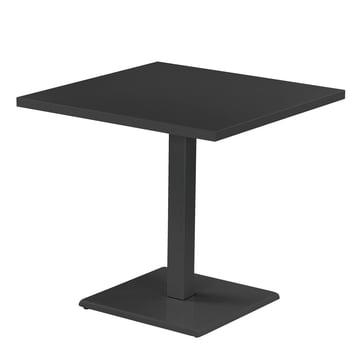 Der Emu - Round Table H 75 cm, 80 x 80 cm, antique iron