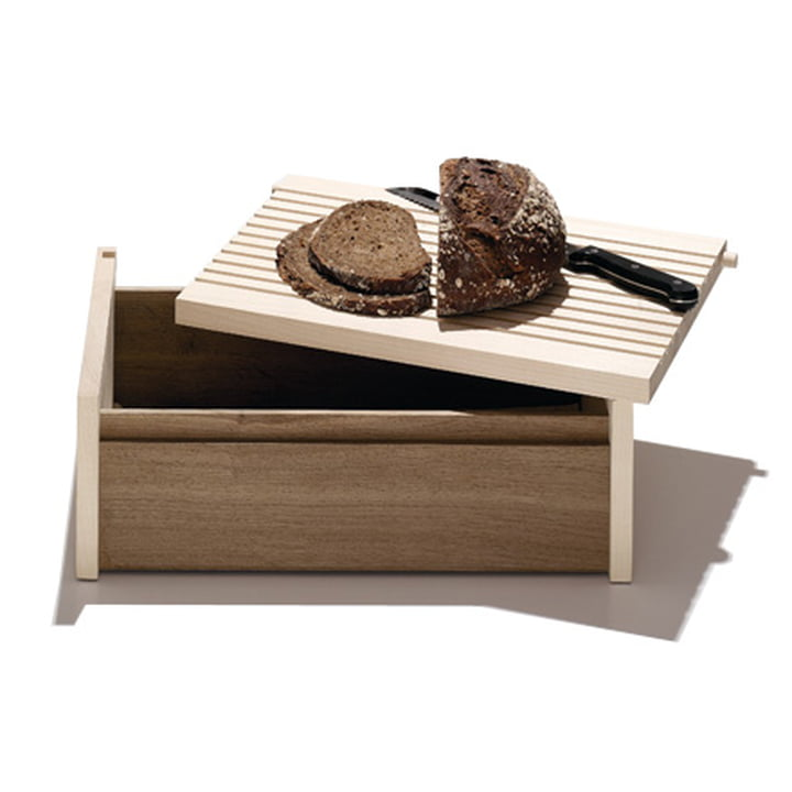 side by side - bread box with chopping board