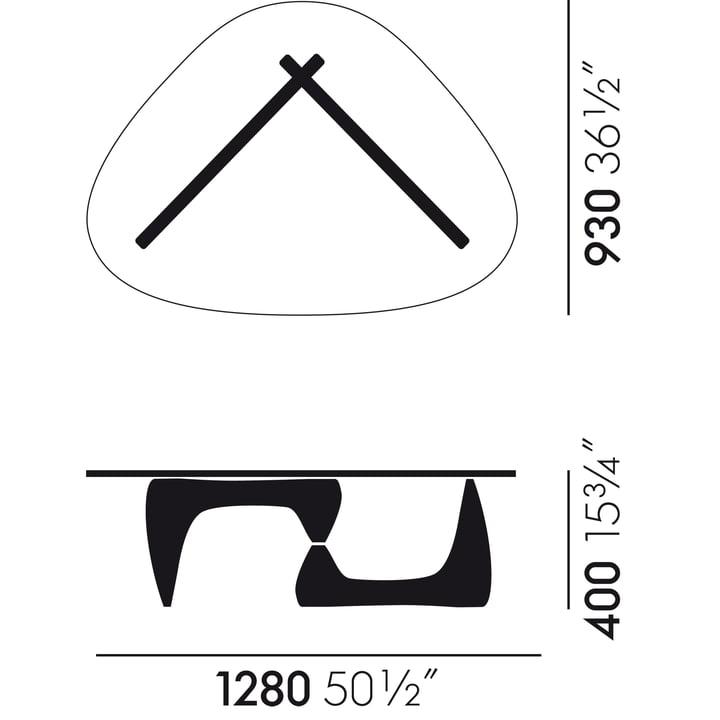 Vitra - Coffee Table, dimensions