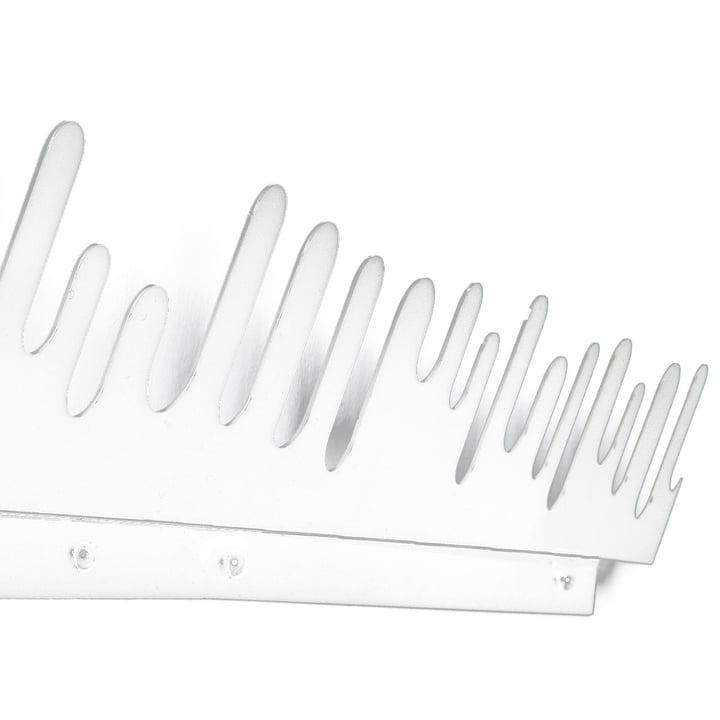 Wave Hanger - Coat Rack, white, set of 2