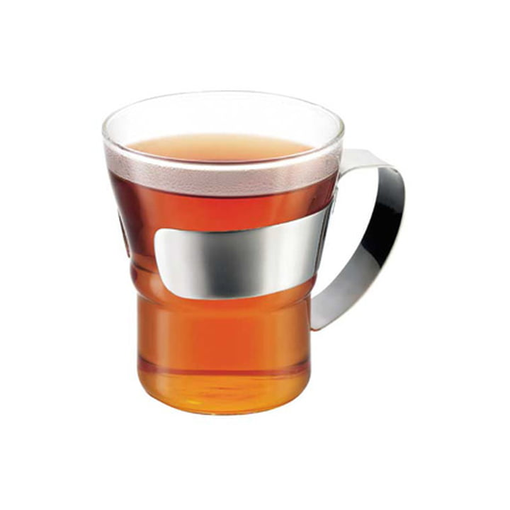 Bodum - Assam Tea Glass with stainless steel handle, with tea