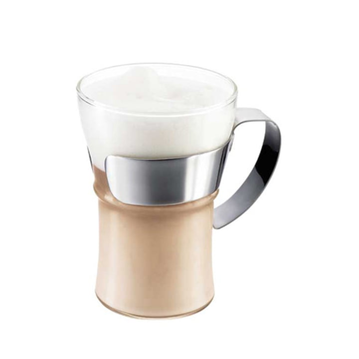 Bodum Assam coffee glass with stainless stainless handle (set of 2)
