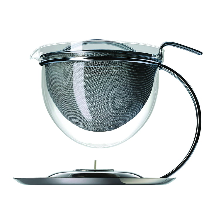 mono filio teapot with integrated warmer