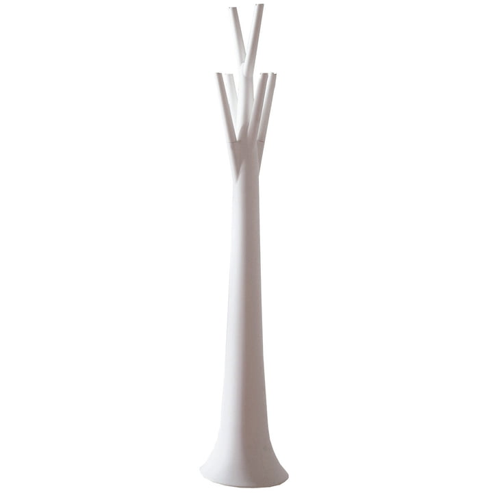 Tree clothes stand - matt, white