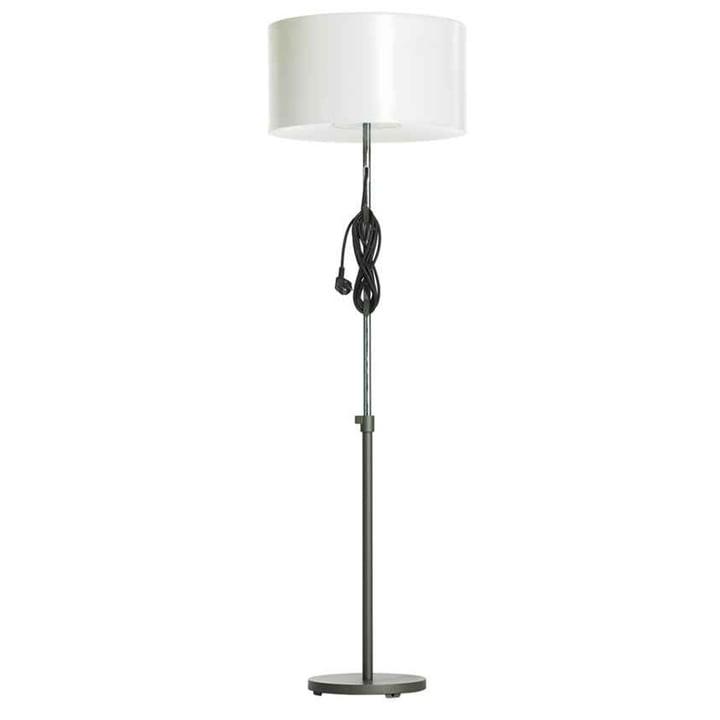 Carpyen Harry floor lamp - shade white, pedestal titanium