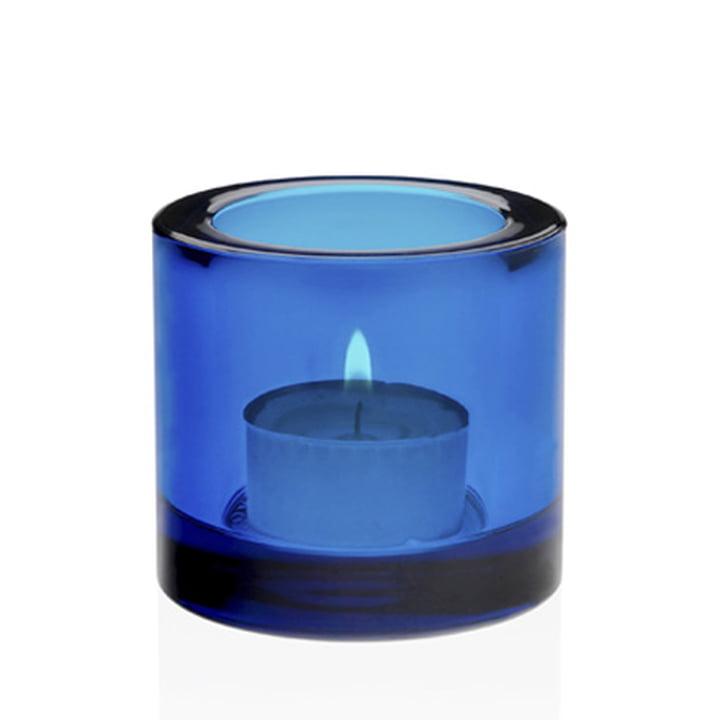 Kivi Tealight holder, dark turquoise