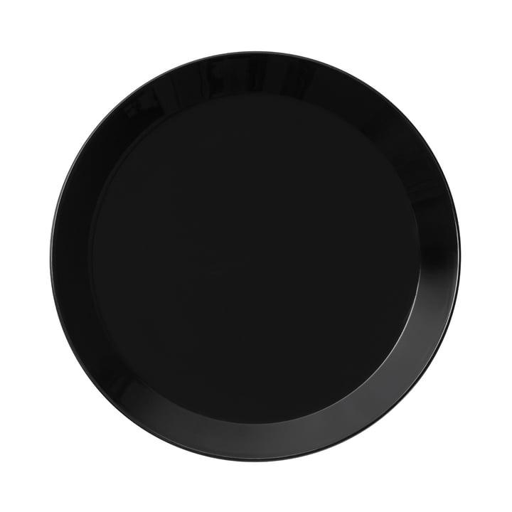 Teema Flat Plate Ø 21 cm by Iittala in Black