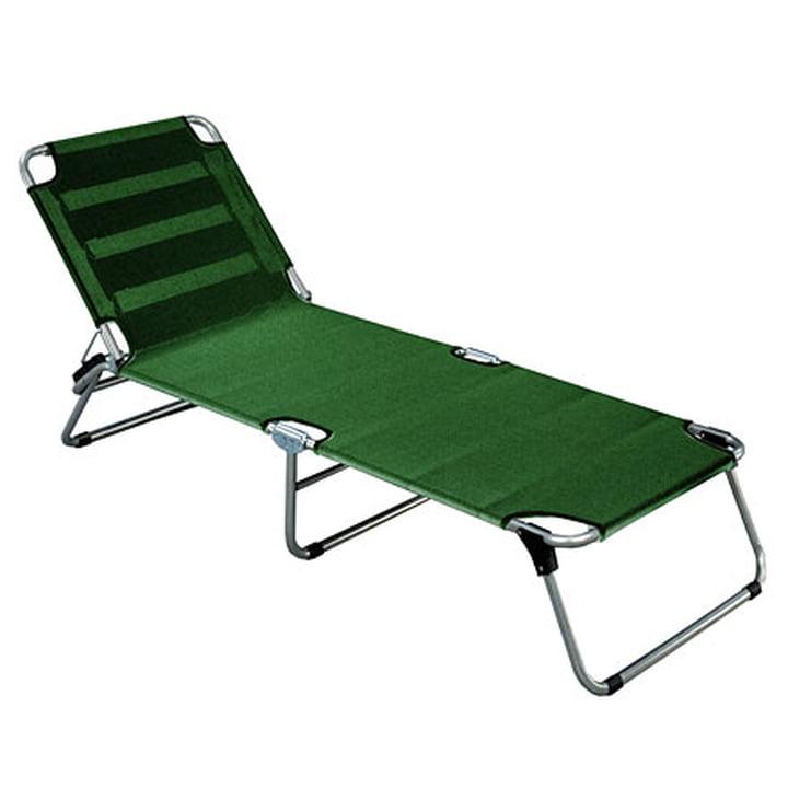 Amigo Aluminium three-legged lounger from Fiam in dark green