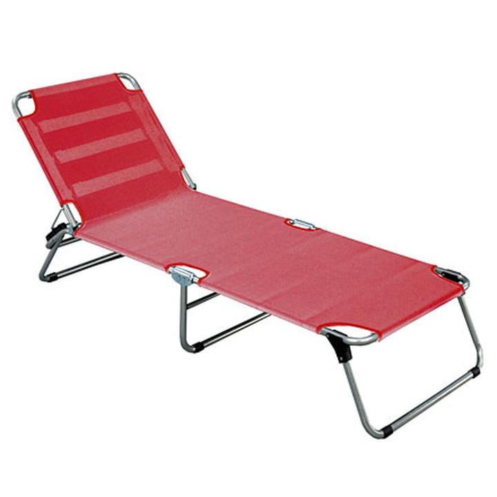 Amigo Aluminium three-legged lounger from Fiam in red