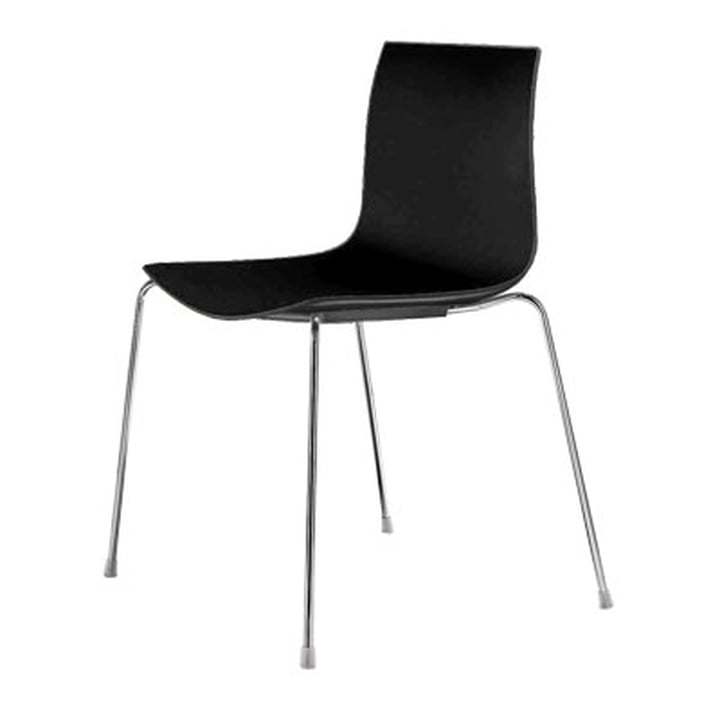 Arper Catifa 46 Chair - four-foot base, Polypropylene, black