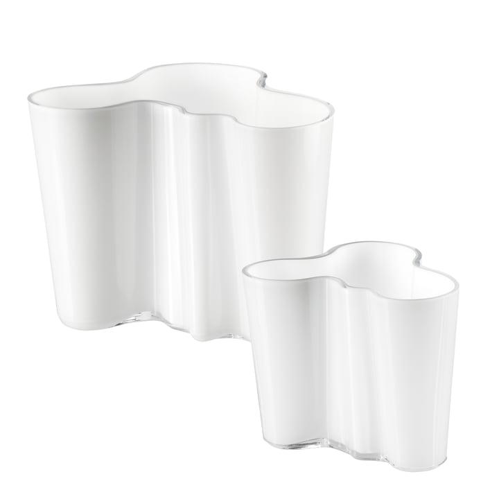 Aalto vase set 160 + 95 mm from Iittala in opal white