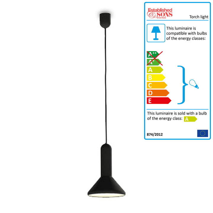 Torch Light, cone - small, black