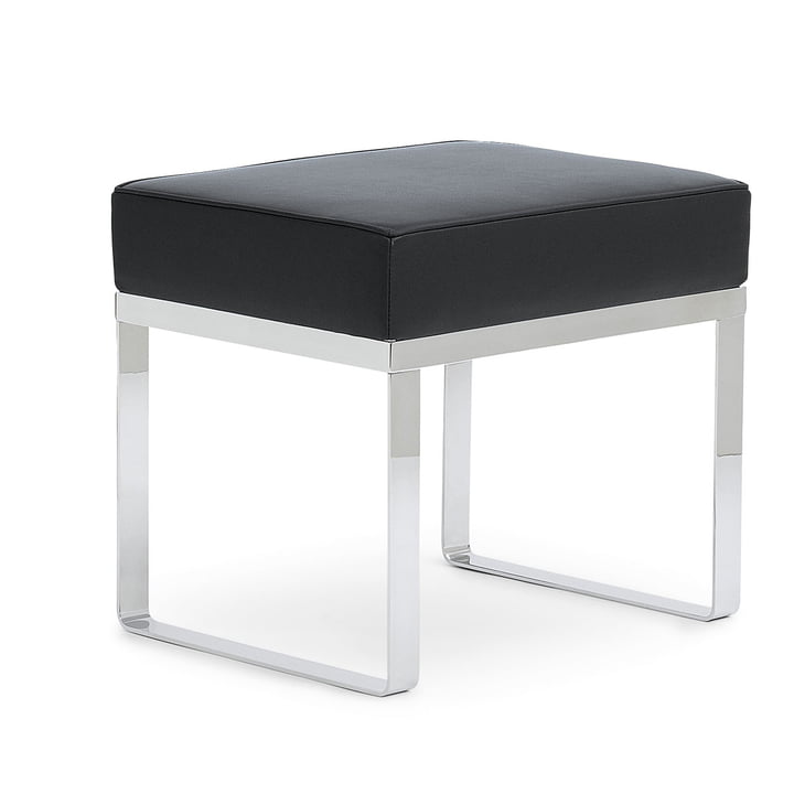 ClassiCon Banu stool - leather, black