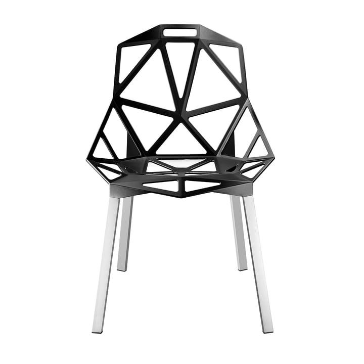 Chair One Stapelstuhl, anthrazitgrau metallisiert