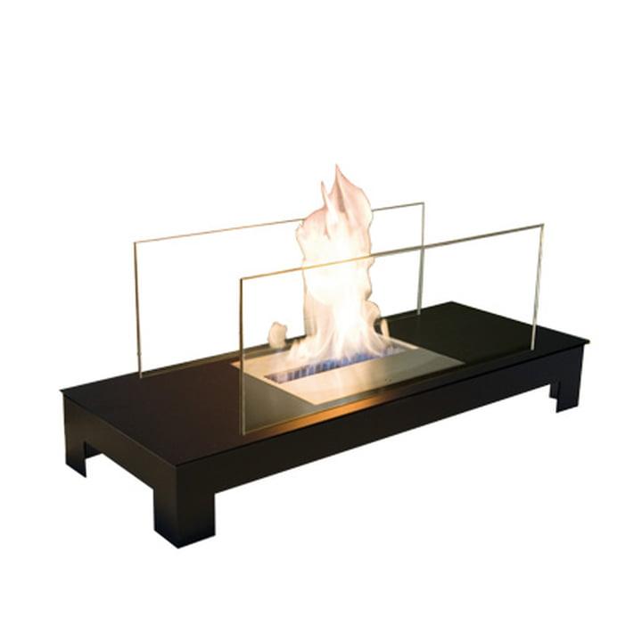 Floor Flame, steel black