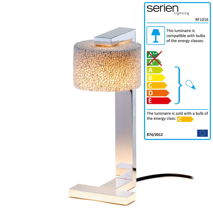 serien-lighting - Reef Table Lamp chromed aluminium