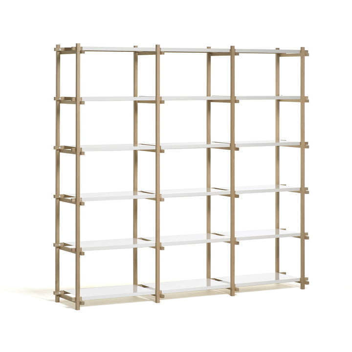 Hay Woody Shelf - High, white