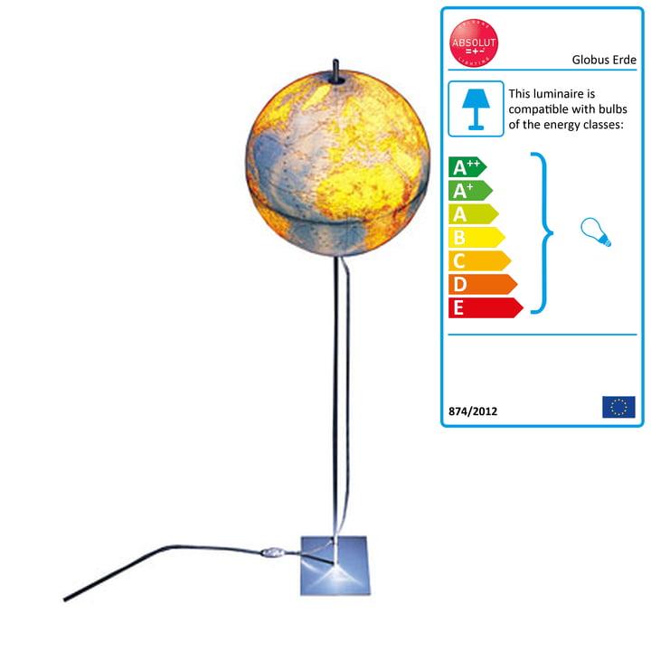 Absolut Lighting - Globus Earth 180cm, German