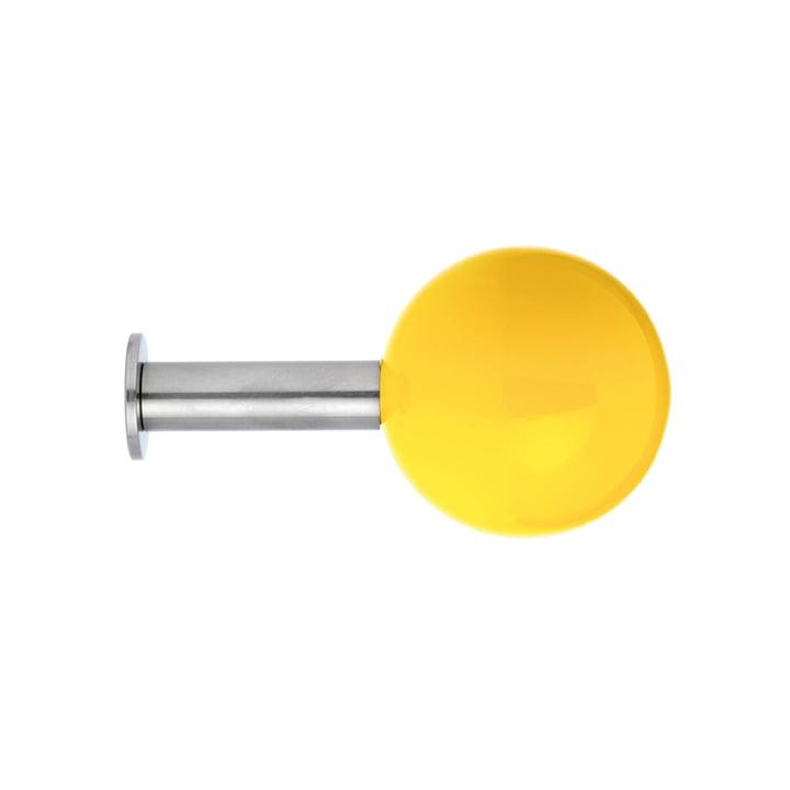 Schönbuch Dots Wandhaken in einer Farbe, gelb (5er-Set)