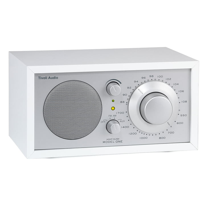 Model One Mono Radio - white / silver