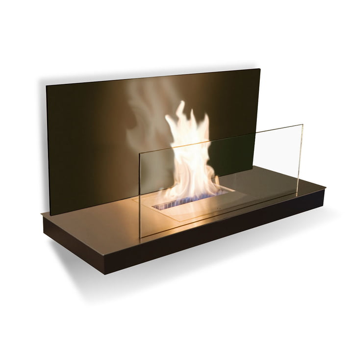 Wallflame II - Stainless steel/ glass, black