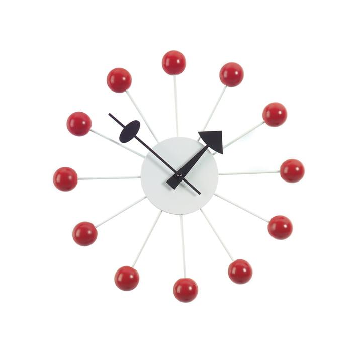 Ball Clock Rot by Vitra