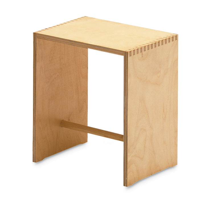 Sgabillo Hocker, Birke natur