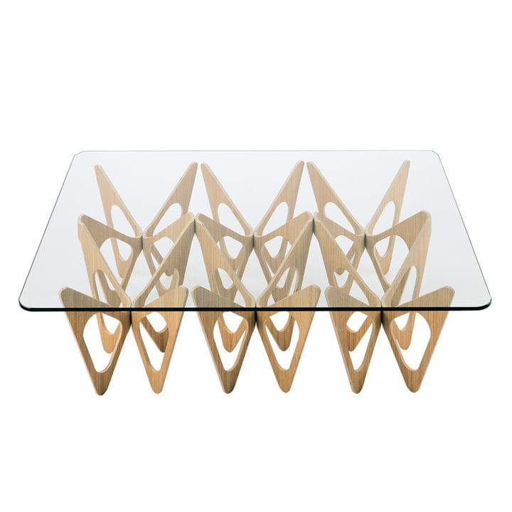 Zanotta - Butterfly sofa table, natural