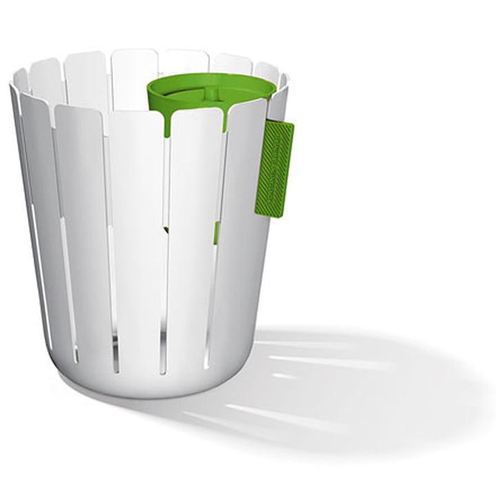SL17 Basketbin - white / green