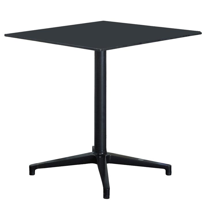 Vitra Bistro Table - indoor, rechteckig, 79,6 x 64 cm, schwarz