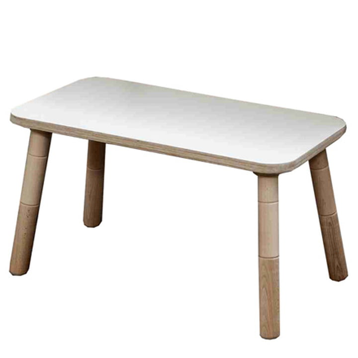 Growing Table - Bench, HPL white