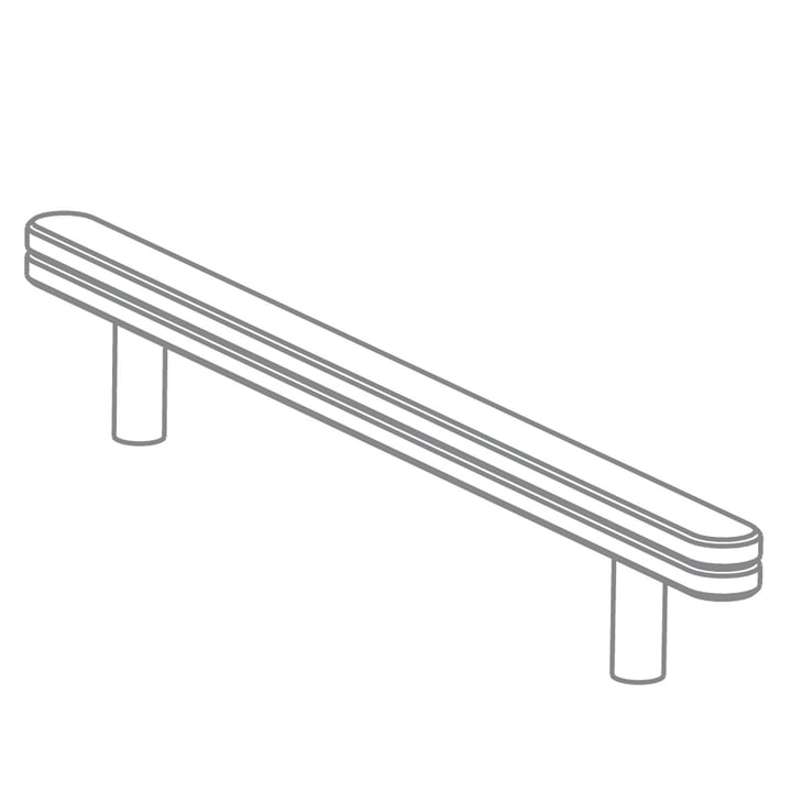 Growing Table - Paper Roll Guiding Rail, HPL white