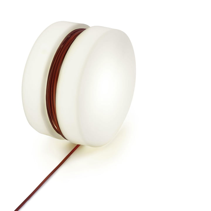 Yoyo floor lamp Ø 47,5 cm from Depot4Design in white / red