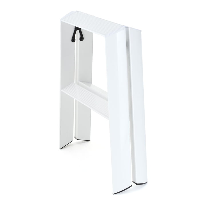 Metaphys - Lucano 2 step stepladder white, closed