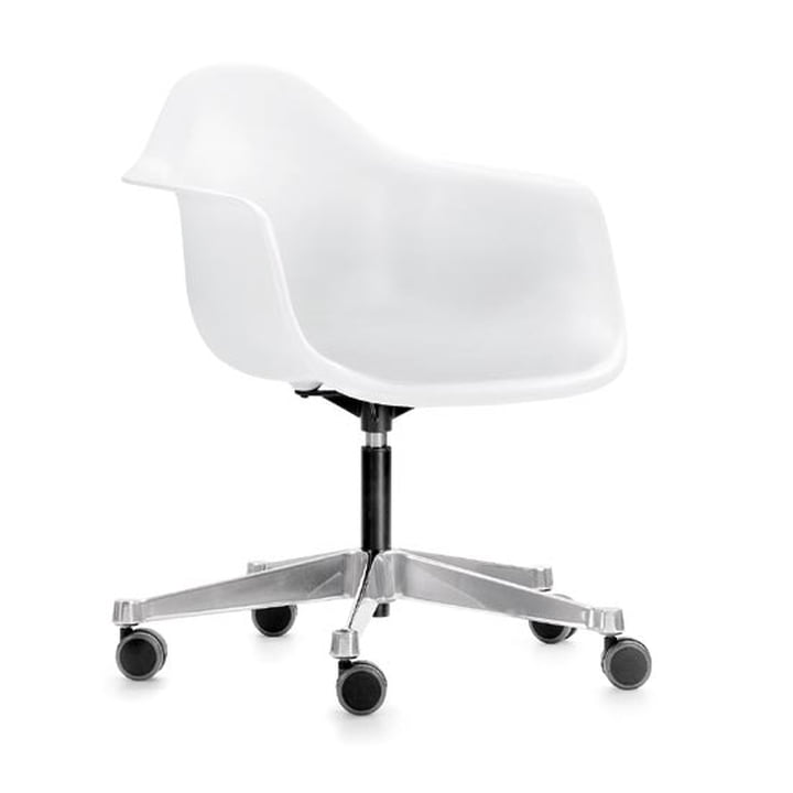 Eames Plastic Armchair PACC from Vitra in white