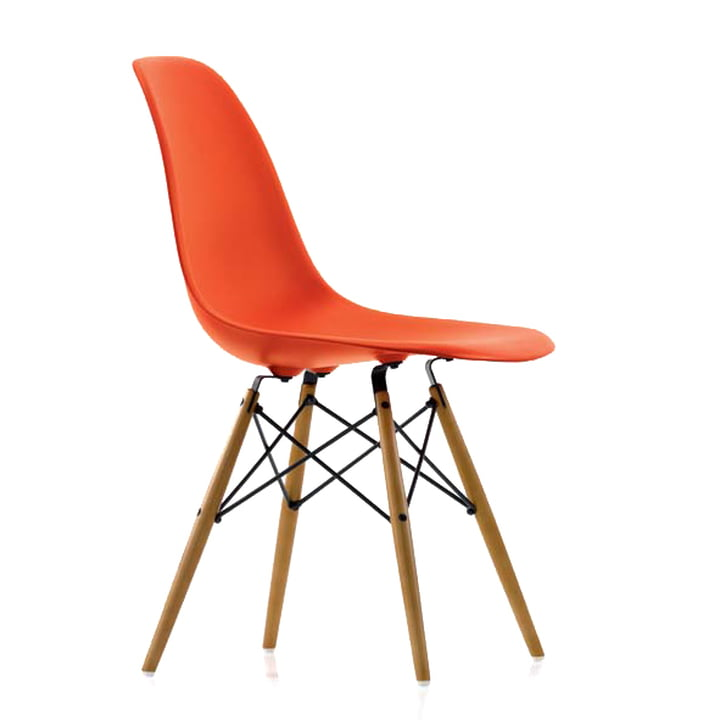 Vitra - Eames Plastic Side Chair DSW, rot