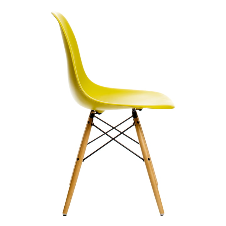 Vitra - Eames Plastic Side Chair DSW, yellowish maple / mustard