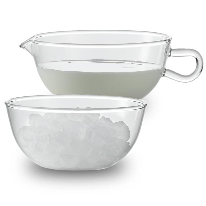 Jenaer Glas - Wagenfeld cream jug and sugar bowl