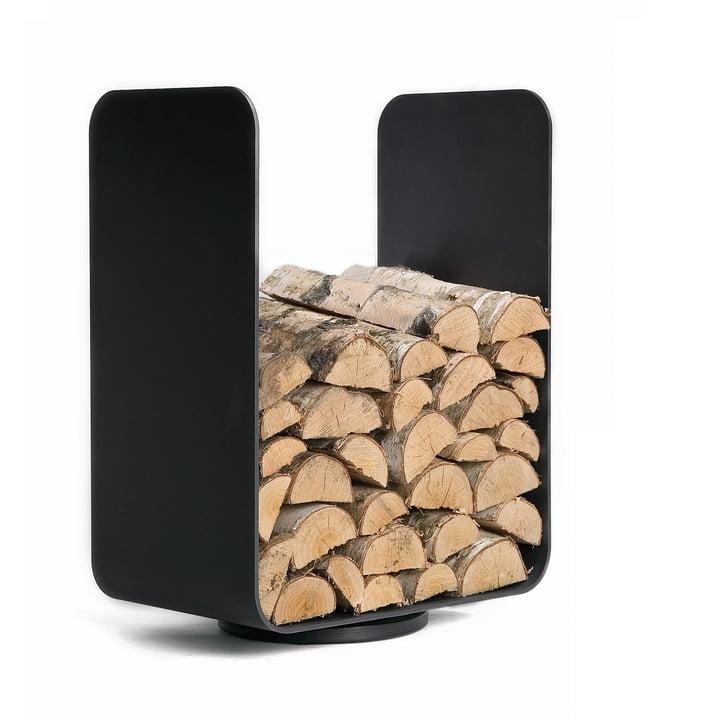 Baest - U-Turn wood storage unit, steel, black
