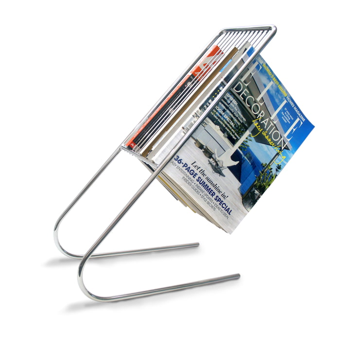 j-me - float magazine rack - chrome