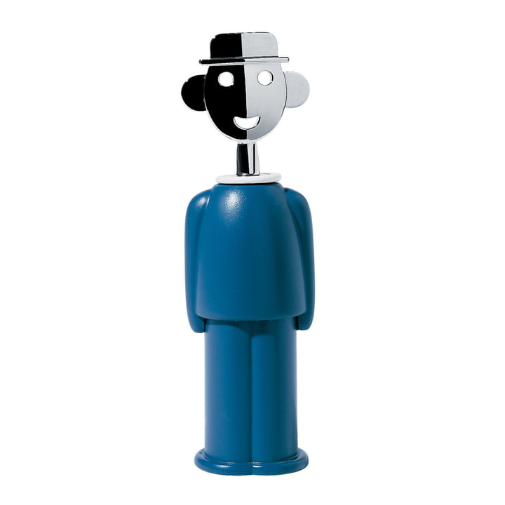 Alessandro M. Corkscrew in blue by Alessi