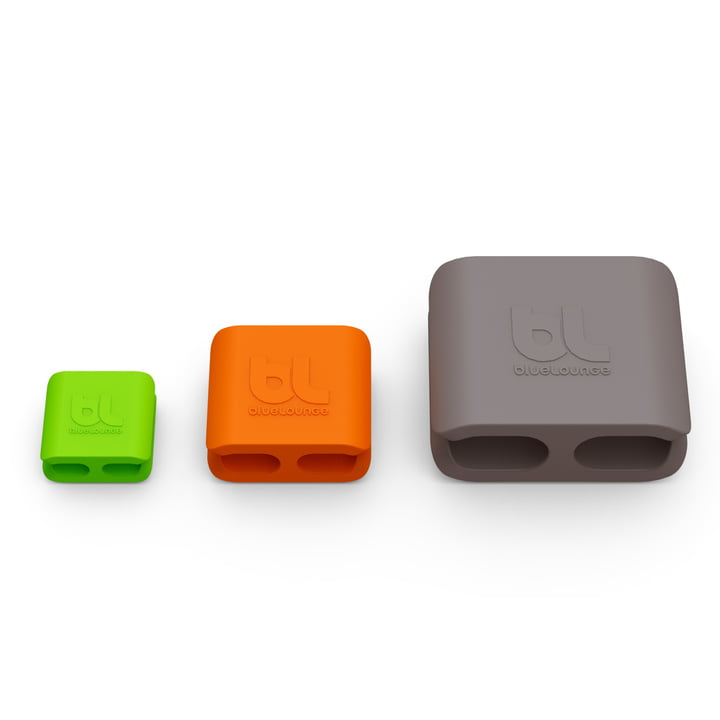 Bluelounge - CableClip, all three sizes in comparison