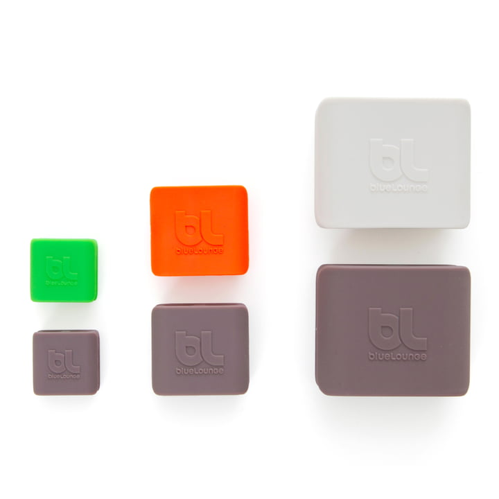 Bluelounge - CableClip, all three sets and sizes in comparison