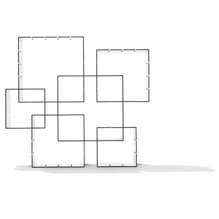 Müller Möbelwerkstätten - Konnex Shelf System - Stacked group