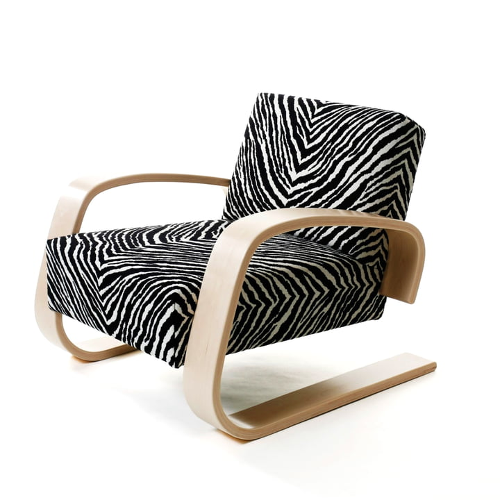 Artek - Armchair 400 - Tank Chair, zebra cover